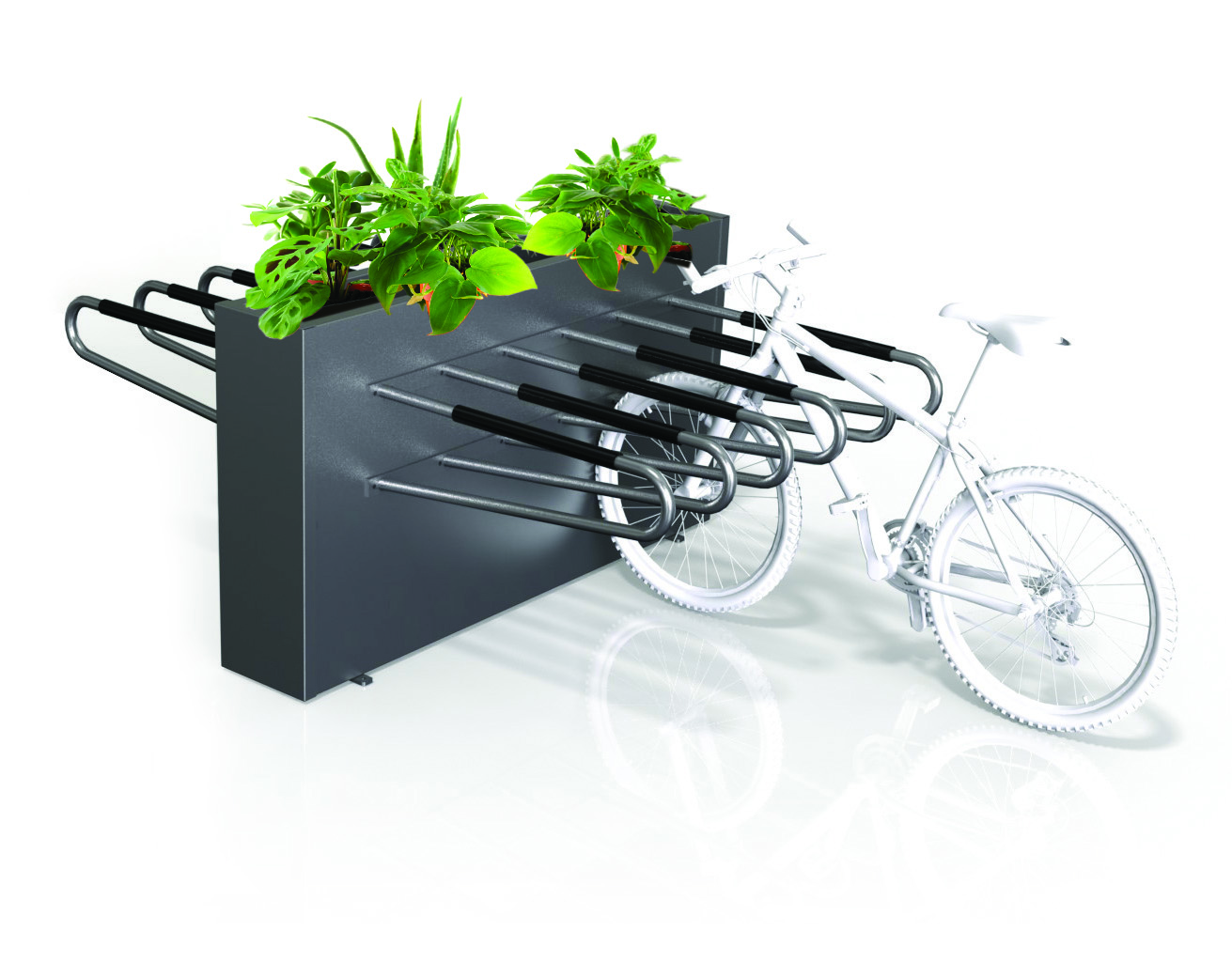 Double Sided Planter Box 12 Bike Rack